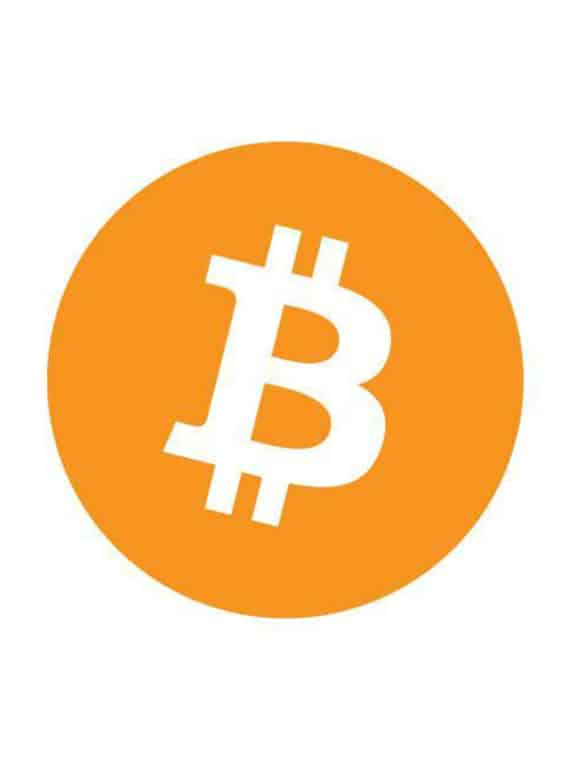 Bitcoin-Sticker-Rond-Orange