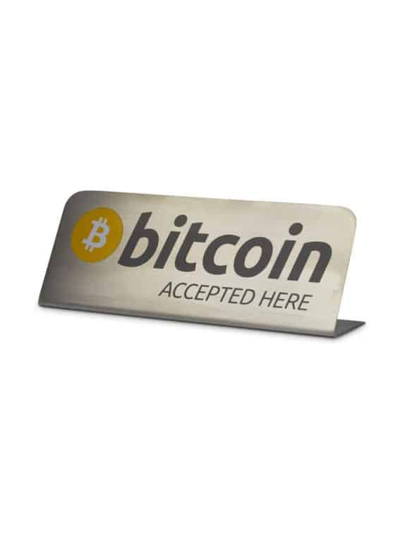 Plaque-Bitcoin-Accepted-Here